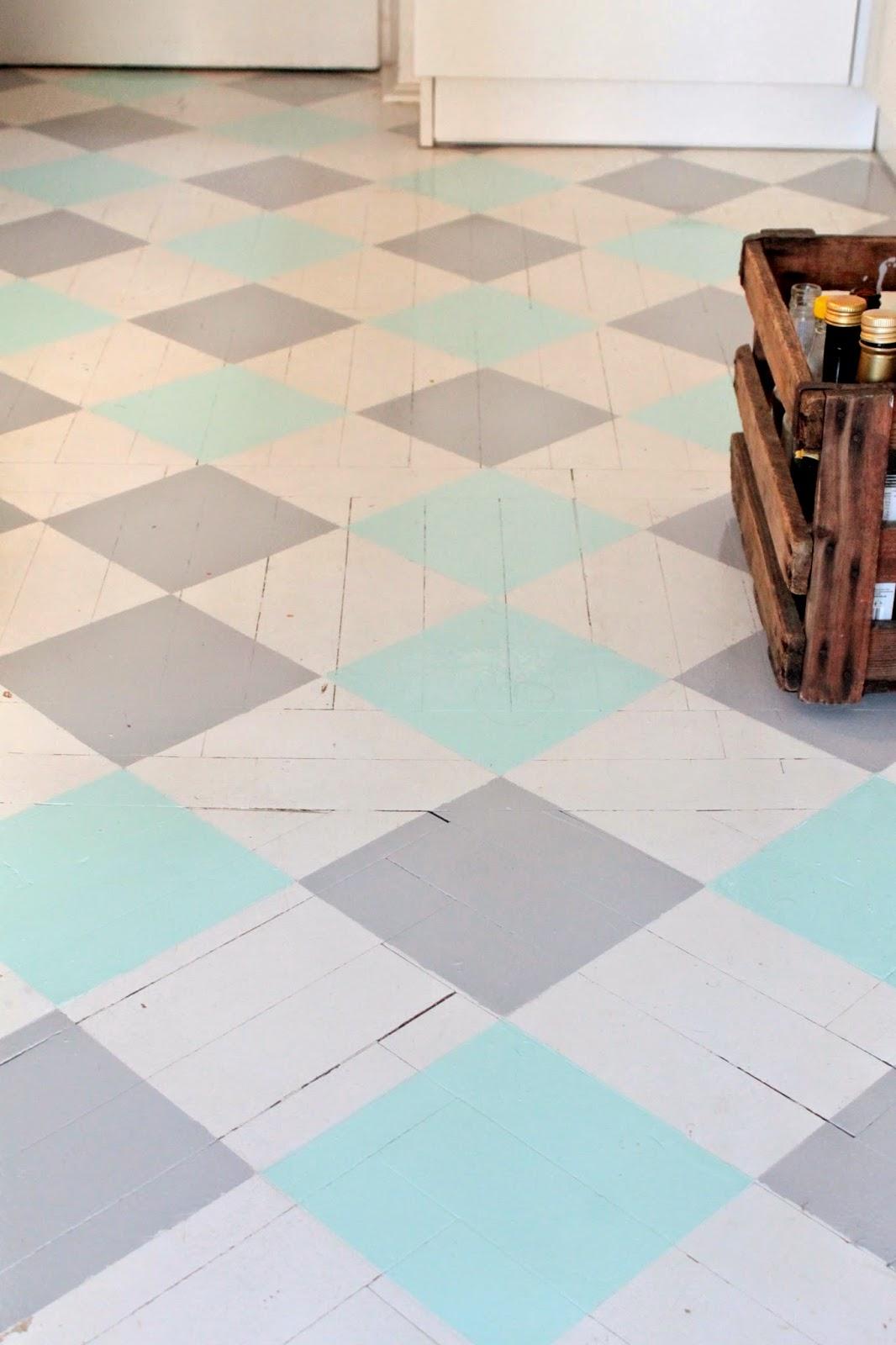Efekt końcowy metamorfozy podłogi w kuchni.