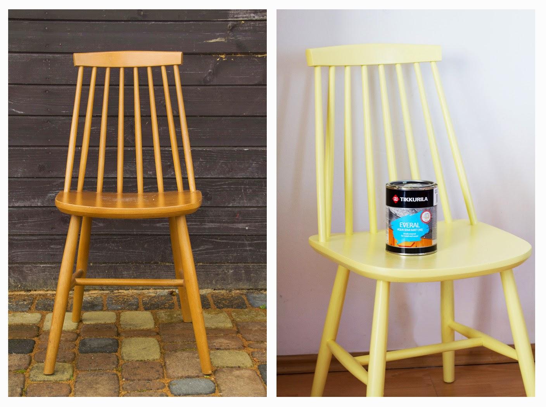 Metamorfoza krzesła dzięki farbom Tikkurila