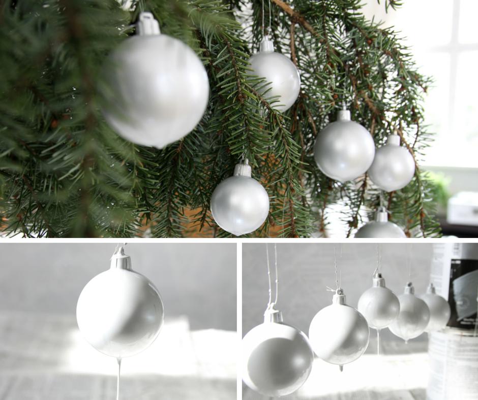 Samodzielnie stworzone ozdoby świąteczne na bożonarodzeniowym drzewku.