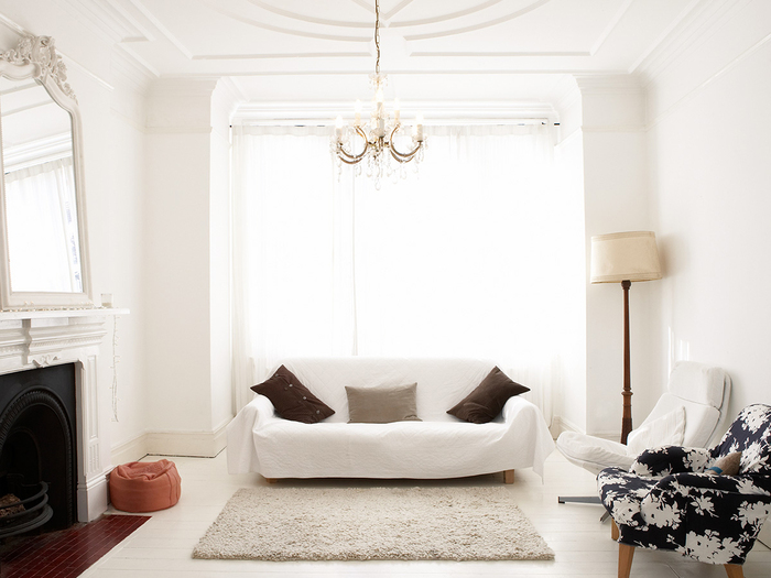 niebanalna przestrzeń stworzona dzięki farbie Tikkurila Ivory.