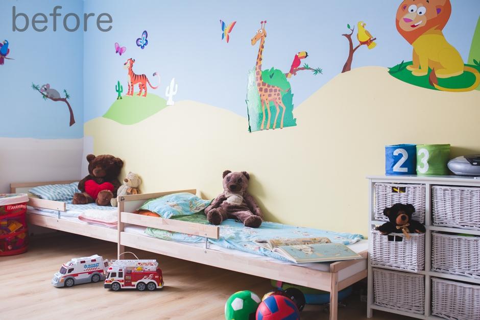 pokój dziecięcy przed zastosowaniem farby Tikkurila Duett
