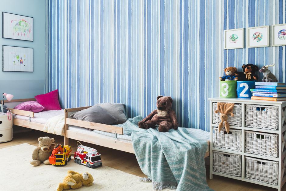 pokój dziecięcy po zastosowaniu farby Tikkurila Duett Flow