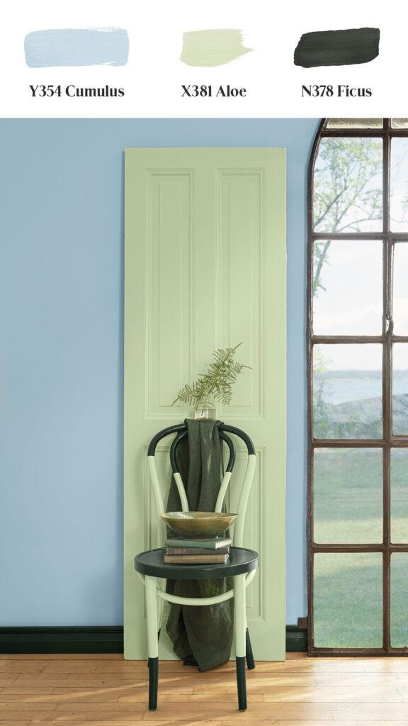 Tikkurila-Color-Now-2021 ściana krzesło
