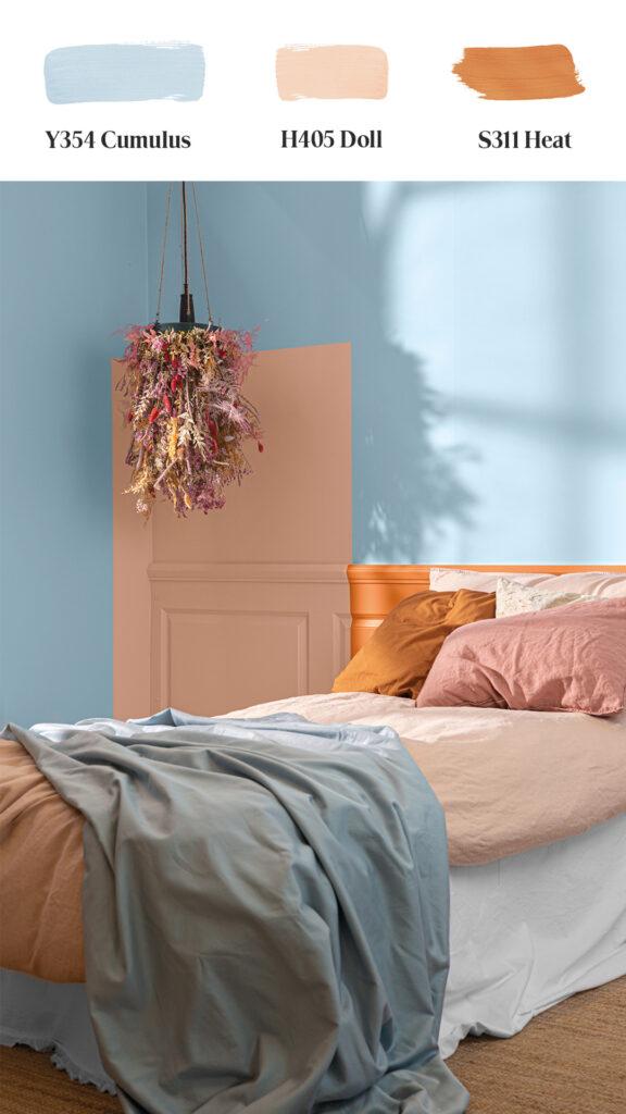 Tikkurila-Color-Now-2021 sypialnia łóżko