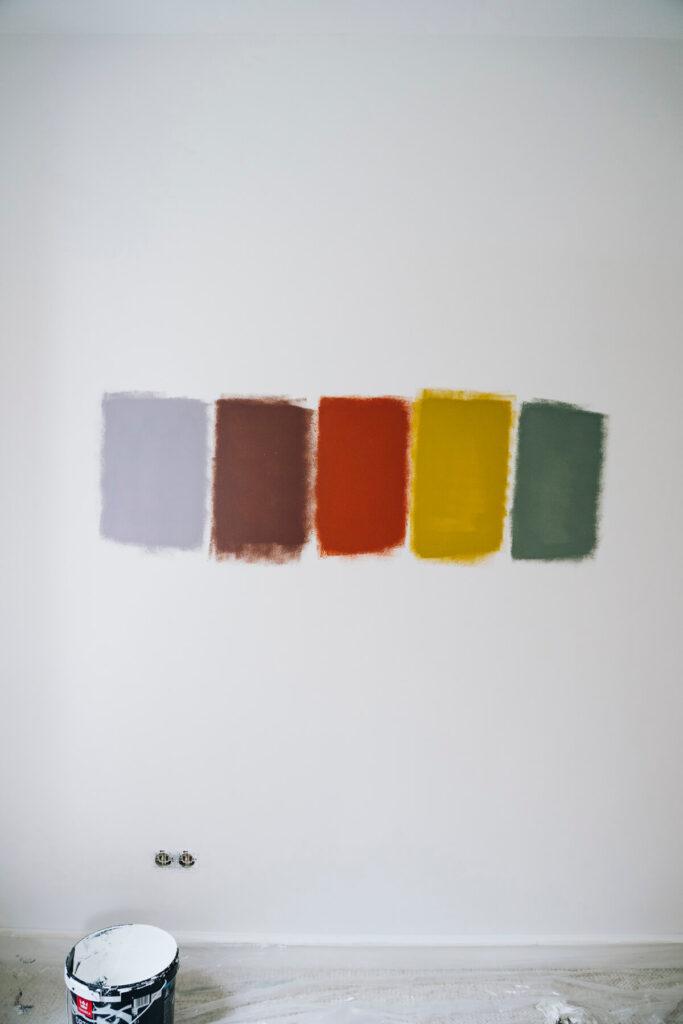 metamorfoza bawialni testowanie kolorów