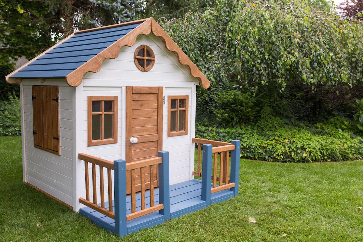 jak pomalować domek ogrodowy dla dzieci tikkurila ula pedantula